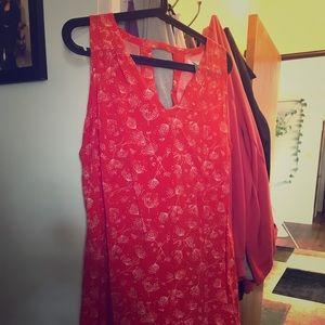 Orange dandelion print dress from old navy